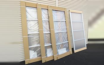 ガラス風 室内引戸4枚セット