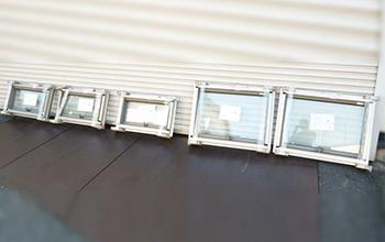 サーモスL 横すべり出し窓 カムラッチ 窓ガラス5点セット