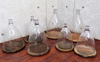 ガラスクローシュ(GLASS CLOCHE) ディスプレイケース7点セット