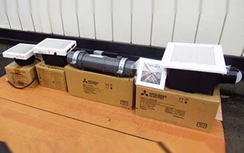 ダクト用 換気扇4点セットの写真