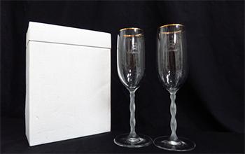 シャンパングラスセットの写真