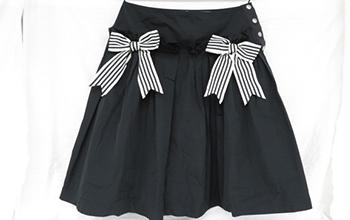 リボン付きフレアースカート
