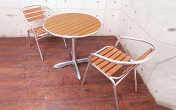 ALUMINUM CAFE TABLE&CHAIR3点セット