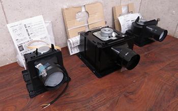 天井埋込み型 ダクト用換気扇4点セット